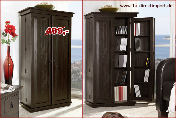 cd dvd schrank kommode mexico kolonial kolonialstil schwarz braun pinie neu ebay. Black Bedroom Furniture Sets. Home Design Ideas