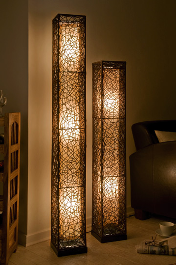 wundersch ne xl stehlampe stehleuchte mit rattan lampen leuchten rattanlampe ebay. Black Bedroom Furniture Sets. Home Design Ideas