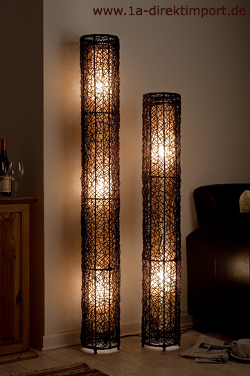 exklusive stehlampe neu rattanlampen stehlampen lampen. Black Bedroom Furniture Sets. Home Design Ideas