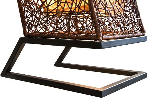 xxl stehlampe rattanlampe leuchte lampen stehlampen modern mit rattan neu ebay. Black Bedroom Furniture Sets. Home Design Ideas
