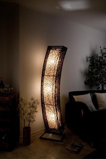 Details zu XXL Stehlampe Rattanlampe Leuchte, Lampen, Stehlampen modern mit  Rattan, neu