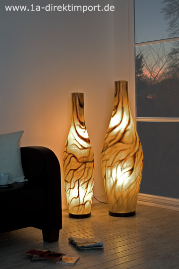 gro e fiberglas lampe einzigartige leuchten lampen stehlampen modern neu ebay. Black Bedroom Furniture Sets. Home Design Ideas