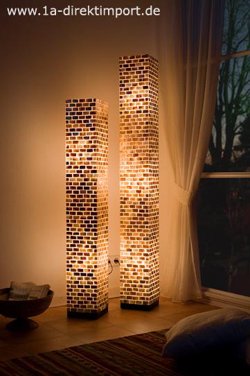 Exklusive große Fiberglas Stehlampe, Stehlampen, Stehleuchte Lampen ...