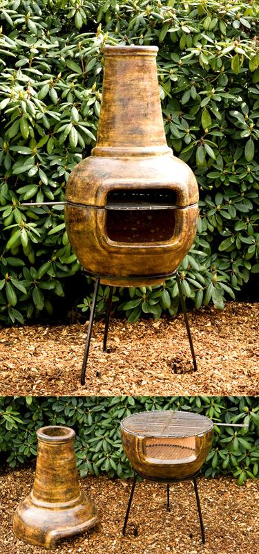 gro er grillkamin terrassenofen terassenofen mit grill ebay. Black Bedroom Furniture Sets. Home Design Ideas