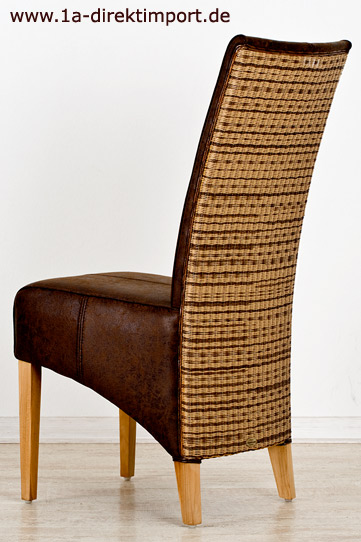 elegante lloyd loom polsterst hle leder wildleder optik esszimmerst hle sessel ebay. Black Bedroom Furniture Sets. Home Design Ideas