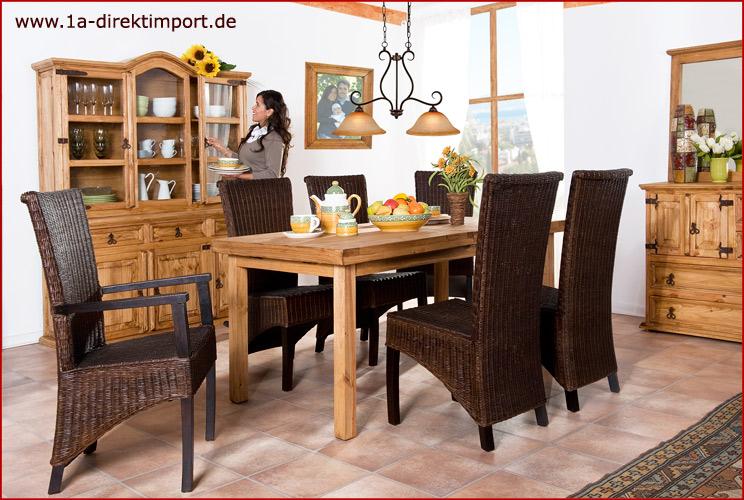 rattanst hle kolonialstil hochlehner st hle kolonial. Black Bedroom Furniture Sets. Home Design Ideas