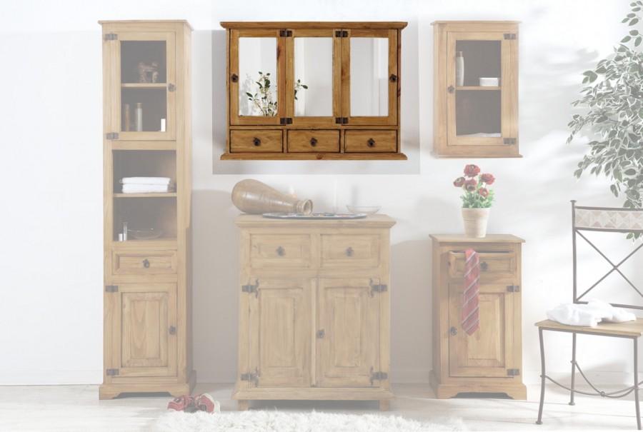 Spiegelschrank - 2 Türen, 3 Schübe