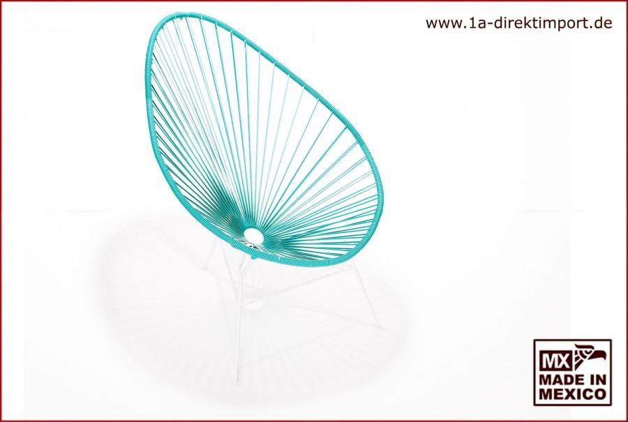 Acapulco Chair - türkis/weiß