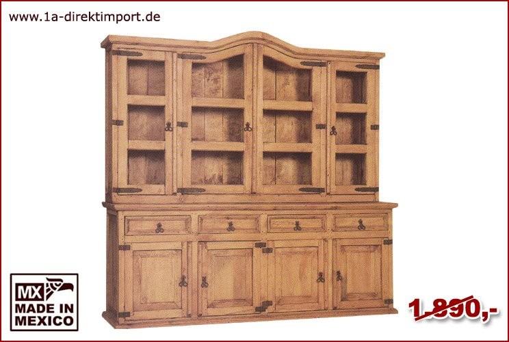 Buffet - 4 Glastüren, 4 Türen, 4 Schübe