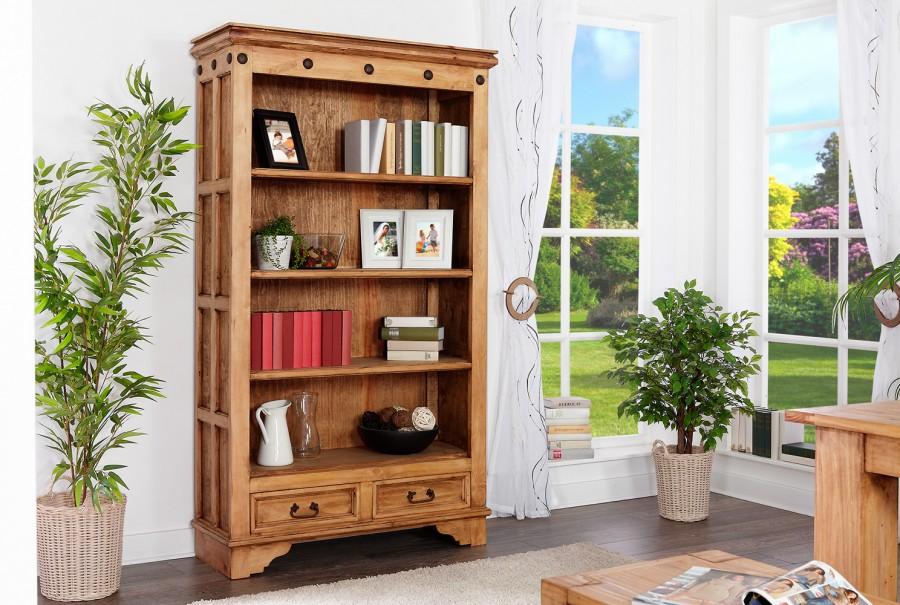 Bücherregal II - 3 Böden, 2 Schubladen