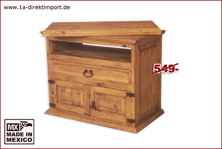 TV-Kommode - Dreh-Aufsatz, 1 Tür, 1 Schub