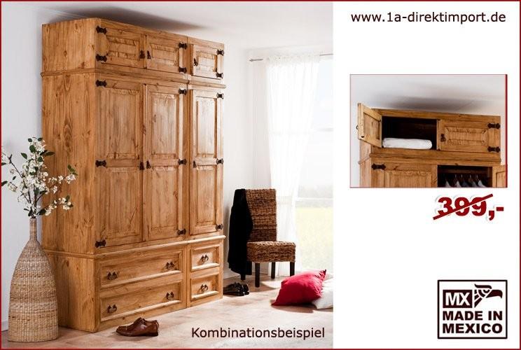 Kleiderschrank anbaubar - Aufsatz 2 Türen