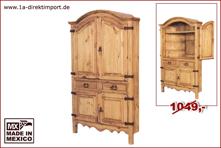 mexico tv schrank eckschrank pinie massiv 1a direktimport. Black Bedroom Furniture Sets. Home Design Ideas