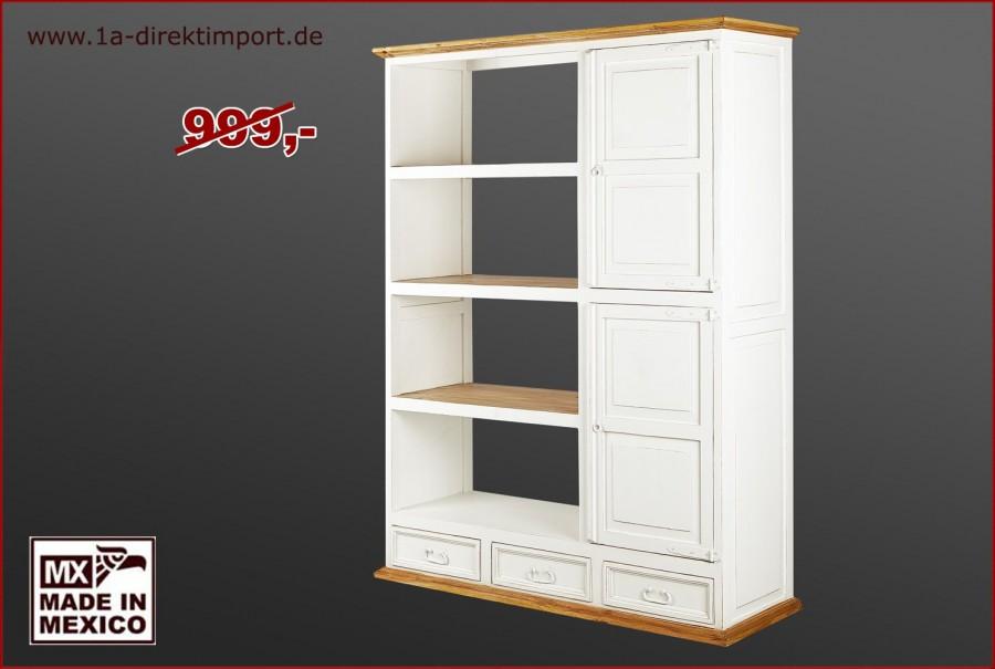 Bücherregal - 2 Türen, 3 Schübe