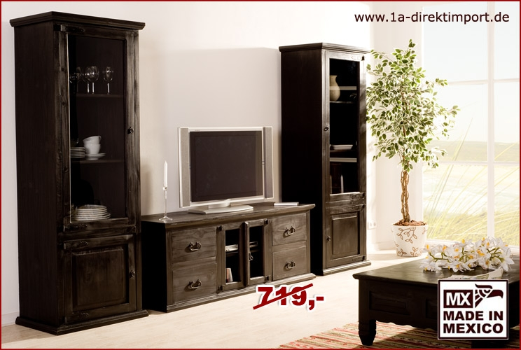 kolonialstil lowboard tv tisch massivholz 1a direktimport. Black Bedroom Furniture Sets. Home Design Ideas