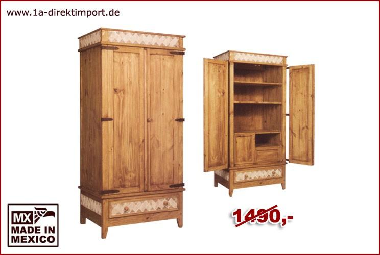Schrank - Marmoreinlage, 2 Türen, 2 Böden