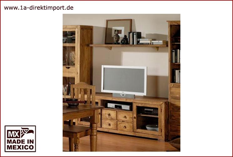 TV-Tisch - 2 Glastüren - 160cm