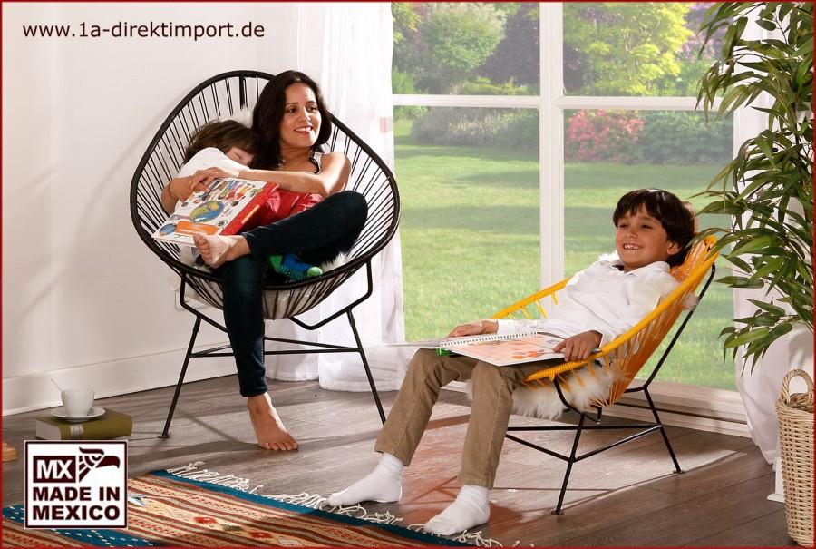 Acapulco Chair Kids - gelb/schwarz