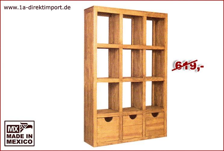 Regal/Raumteiler - 9 Fächer, 3 Schübe