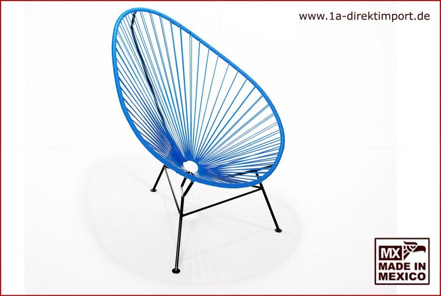 Acapulco Chair - blau/schwarz