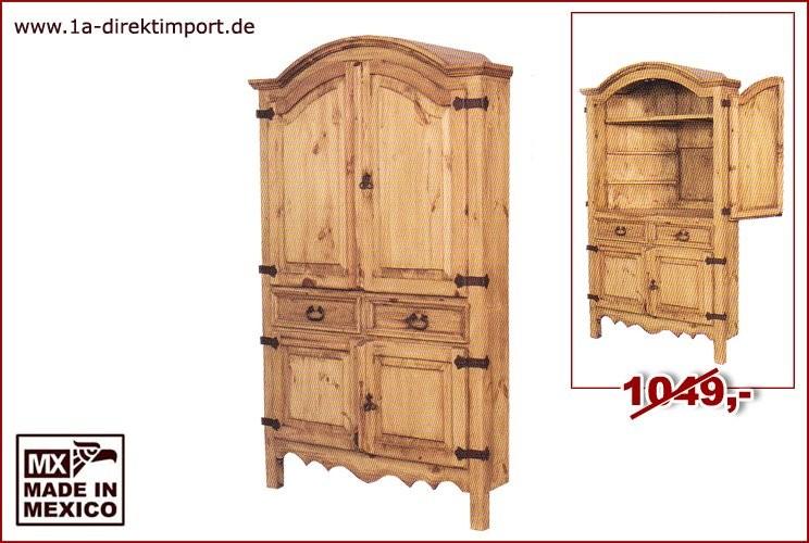 Eck-TV-Schrank - 4 Türen, 2 Schübe, 1 Boden