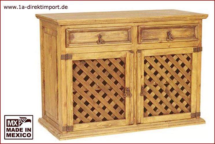 Sideboard - 2 Gittertüren, 2 Schübe