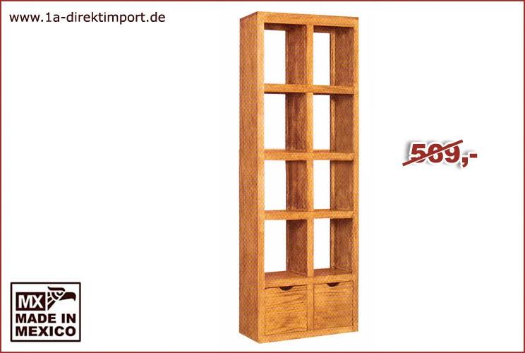 Regal/Raumteiler - 8 Fächer, 2 Schübe