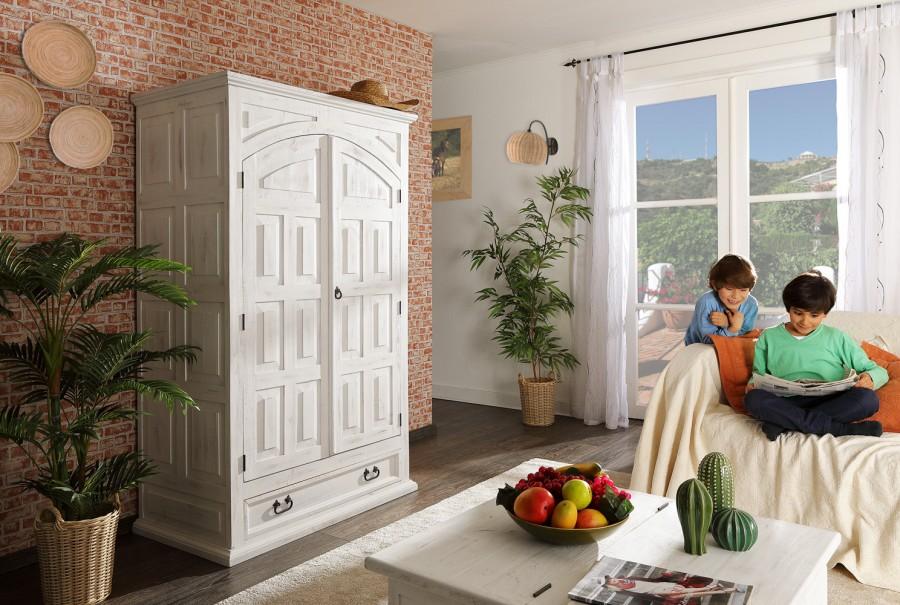 Kleider-/Dielenschrank - 2 Türen, 1 Schub