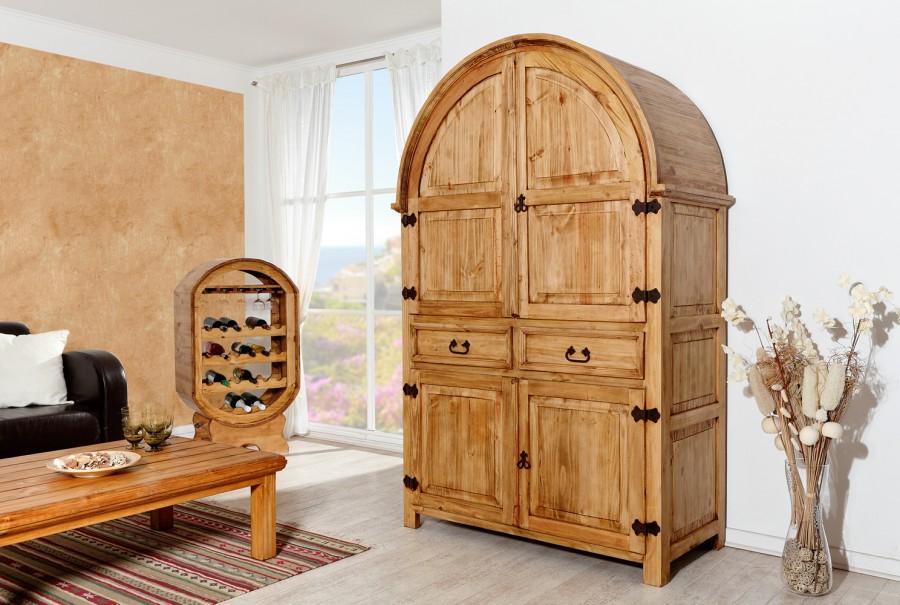 Rundbogenschrank, groß - 4 Türen, 2 Schübe