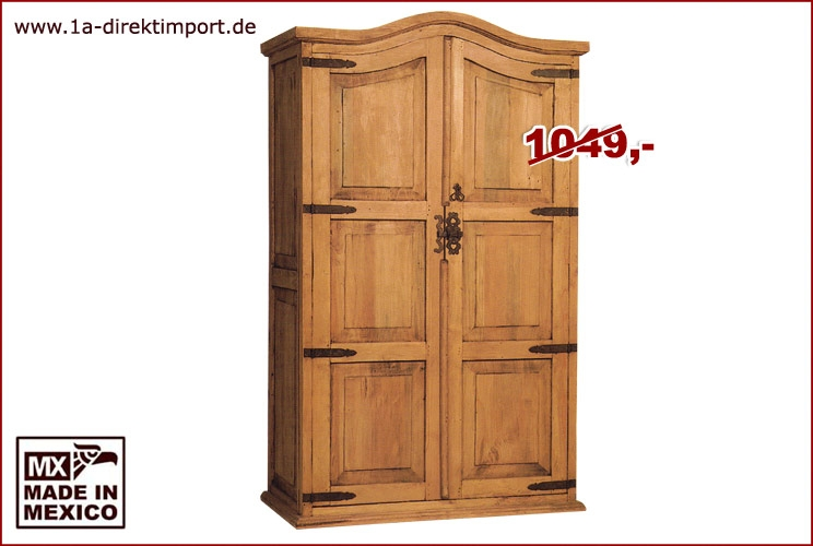 orig mexikanischer kleiderschrank aus massiver pinie 1a direktimport. Black Bedroom Furniture Sets. Home Design Ideas