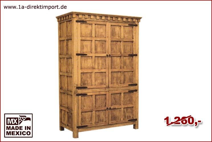 TV-Schrank - 4 Türen, 2 Böden