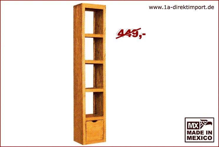 Regal/Raumteiler - 4 Fächer, 1 Schub