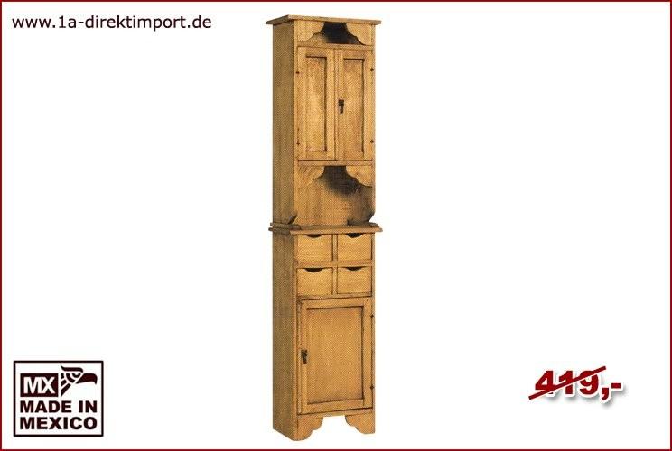 Küchen-/Bad-Schrank - 3 Türen, 4 Schübe