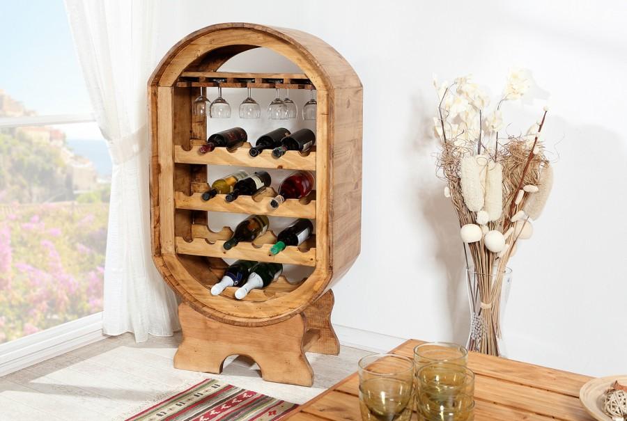 Weinregal - Fassform groß, 4 Reihen Weinablage