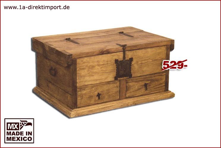 Couchtisch / Truhe - 1 Klappe, 2 Schübe