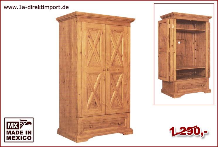 TV-Schrank X - 2 Türen, 1 Schub, 2 Böden