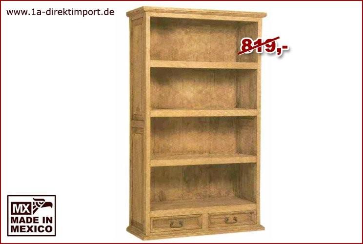 Bücherregal, gerade - 3 Böden, 2 Schübe