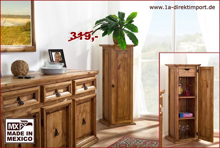 Blumensäule, groß - 1 Tür, 1 Schub, 2 Böden