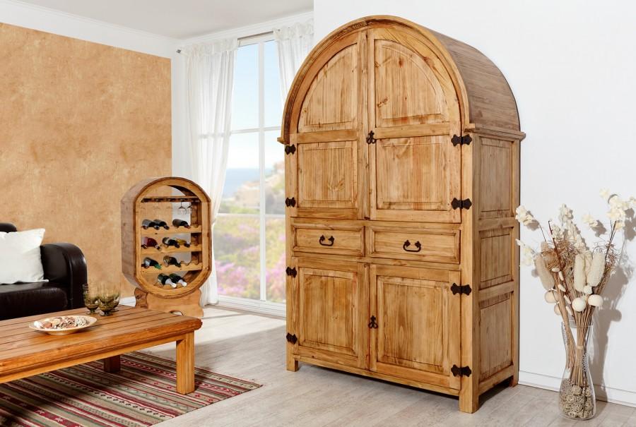 Barschrank Rundbogen - 4 Türen, 2 Schübe