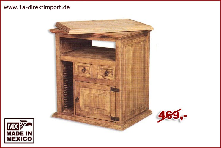 TV-Kommode - Dreh-Aufsatz, 1 Tür, 2 Schübe