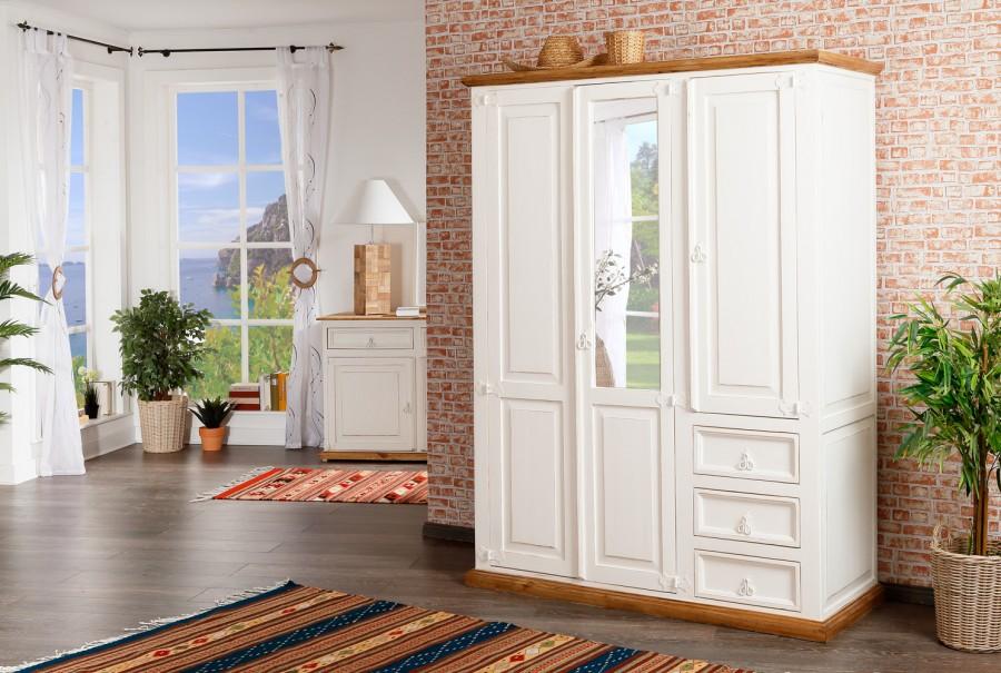 Kleiderschrank - 3 Türen, 3 Schübe