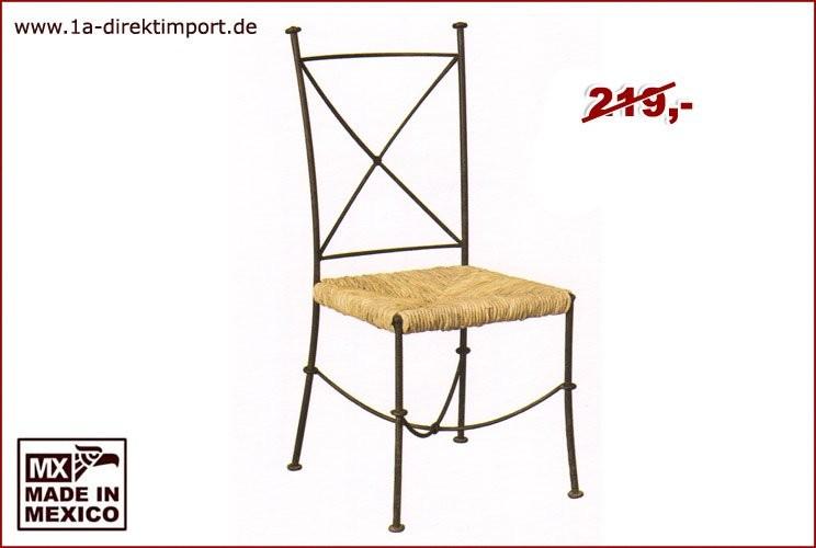 Stuhl - Schmiedeeisen, Flechtwerk