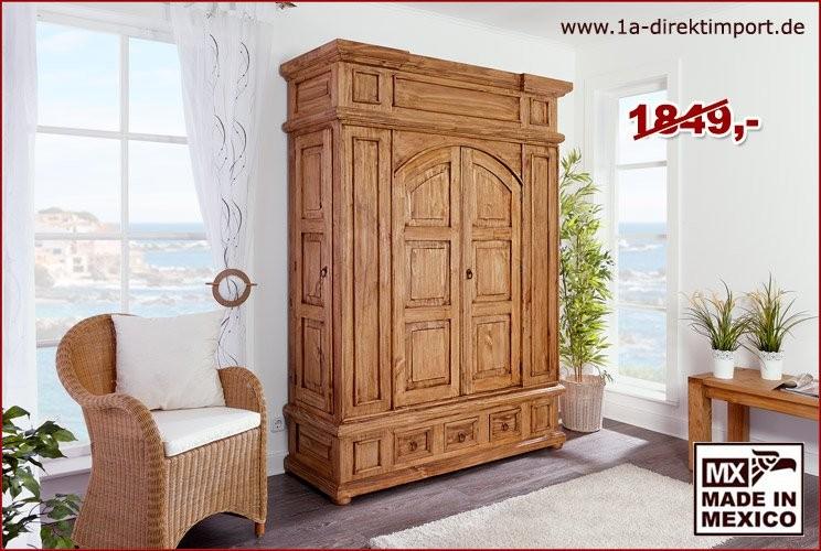 Schrank 3tlg - 4 Türen, 3 Schübe