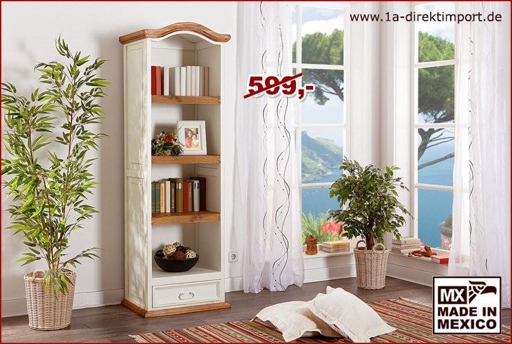 Bücherregal - 3 Böden, 1 Schublade
