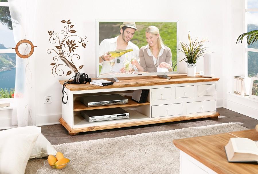 TV-Kommode - 5 Schübe, 2 Fächer