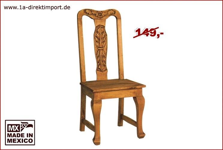 Stuhl geschwungen - Schnitzereien