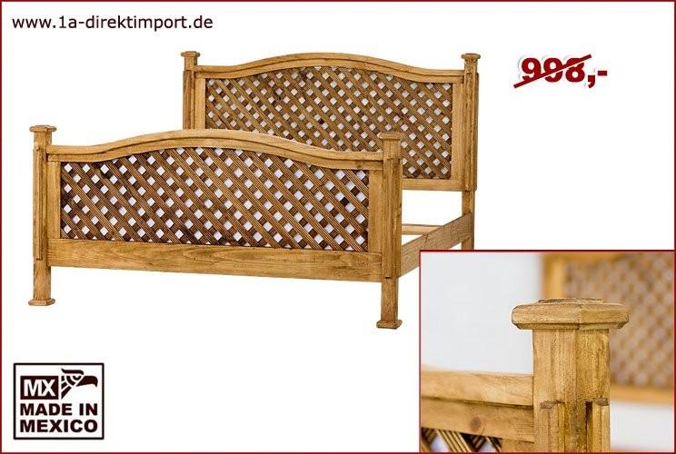 Doppelbett, innen 180x200 cm, Gitter