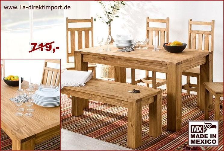 Esstisch 152x91cm - XL-Tischbeine