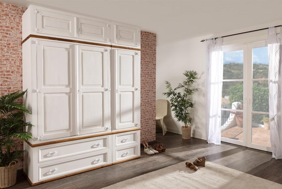 Kleiderschrank anbaubar - 2 Türen