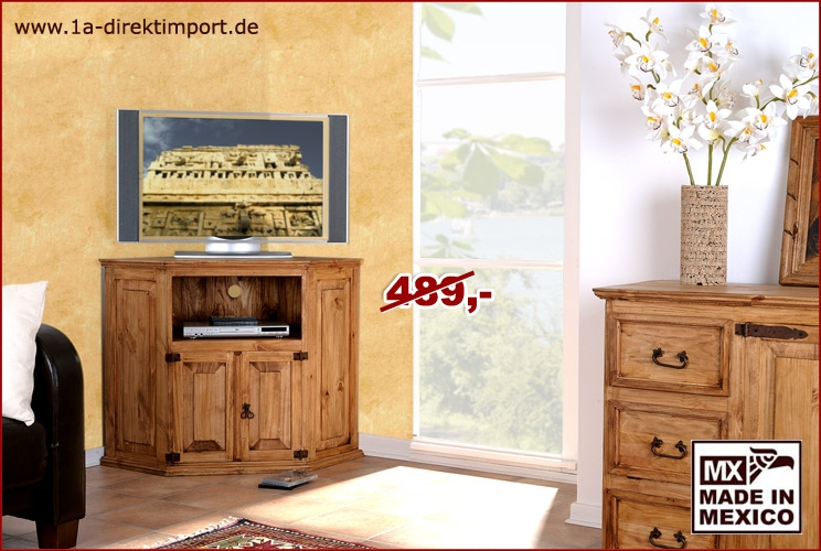 original mexico eckkommode massivholz gewachst 1a direktimport. Black Bedroom Furniture Sets. Home Design Ideas